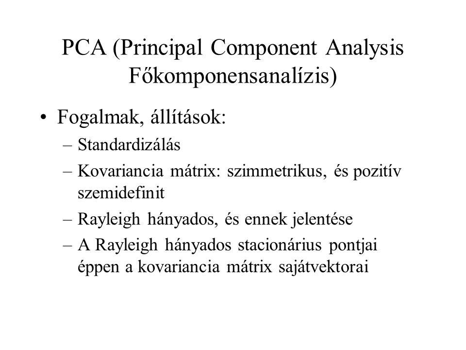 PCA (Principal Component Analysis Főkomponensanalízis)