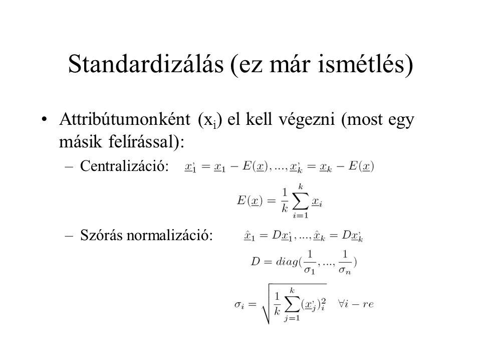 Standardizálás (ez már ismétlés)