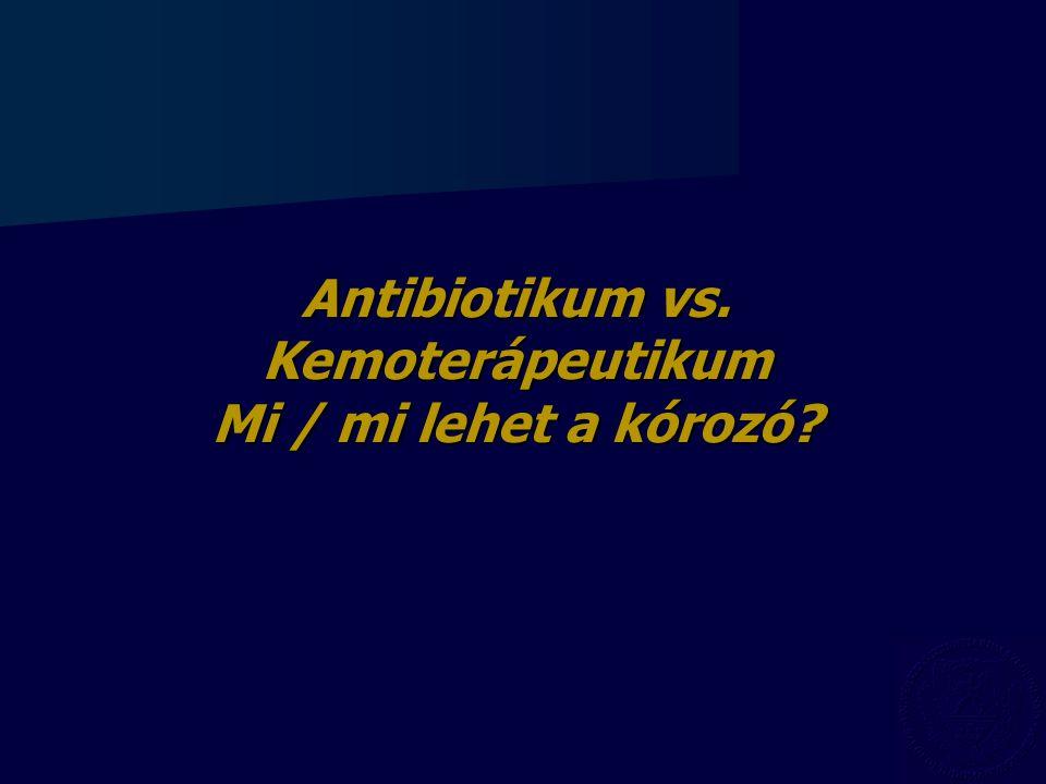Antibiotikum vs. Kemoterápeutikum Mi / mi lehet a kórozó