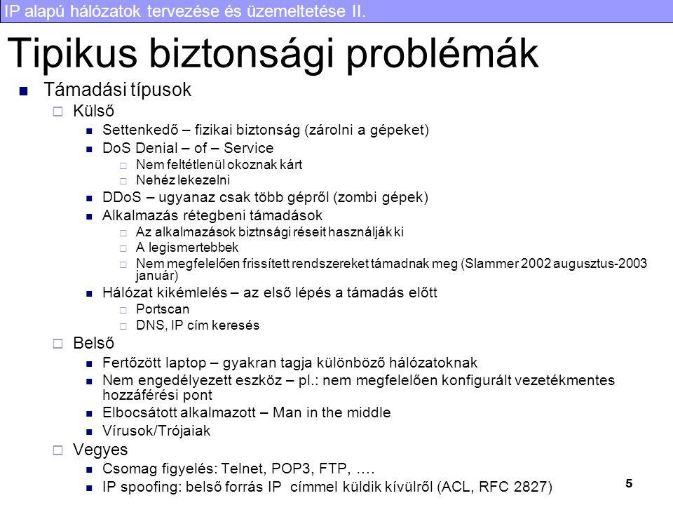 Tipikus biztonsági problémák