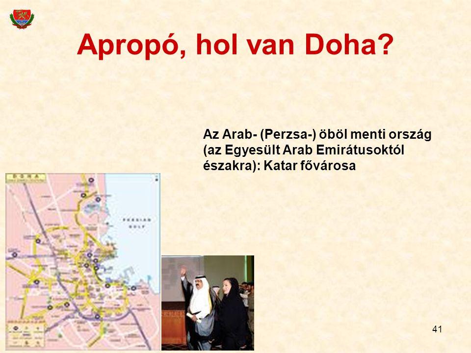 Apropó, hol van Doha.