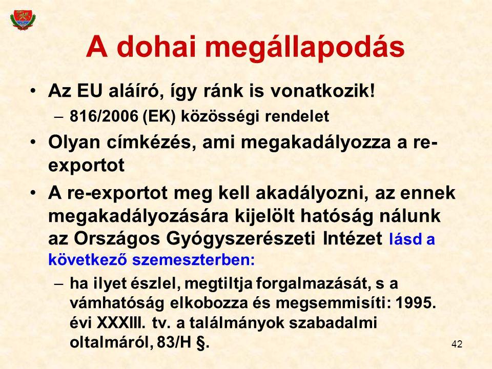 A dohai megállapodás Az EU aláíró, így ránk is vonatkozik!