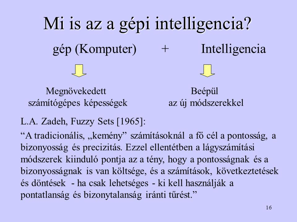 Mi is az a gépi intelligencia