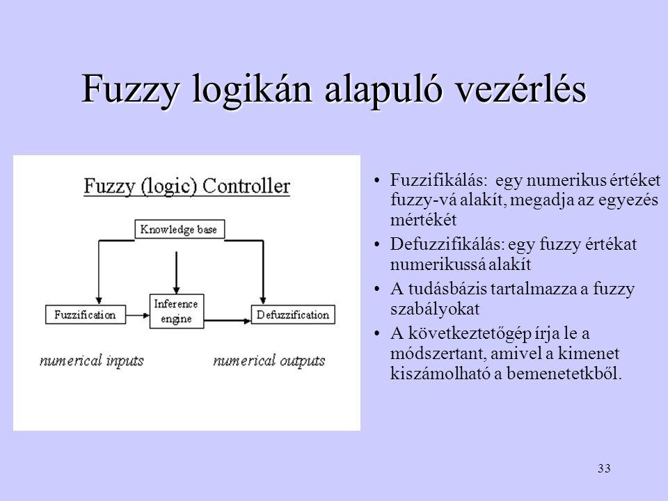 Fuzzy logikán alapuló vezérlés