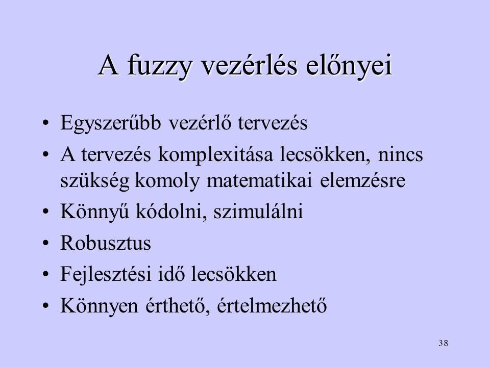 A fuzzy vezérlés előnyei