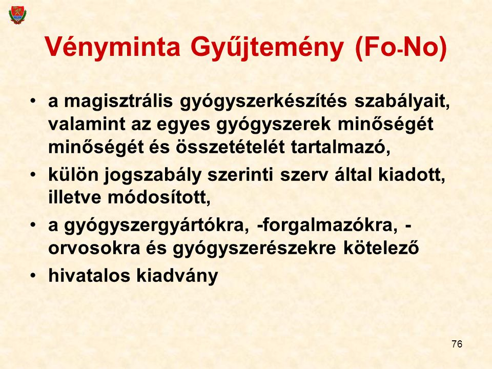 Vényminta Gyűjtemény (Fo-No)