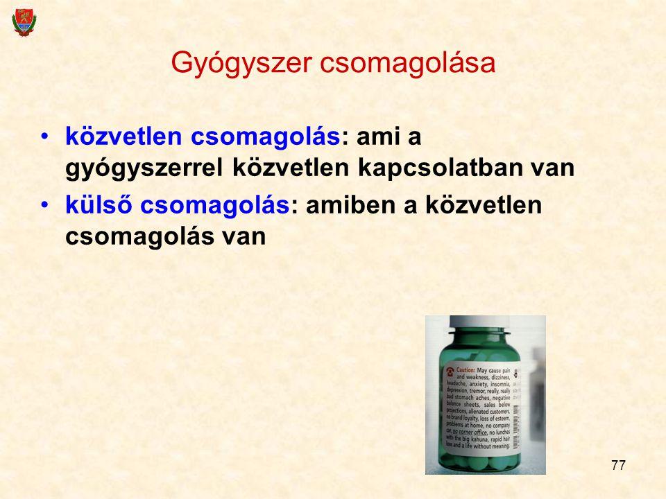 Gyógyszer csomagolása