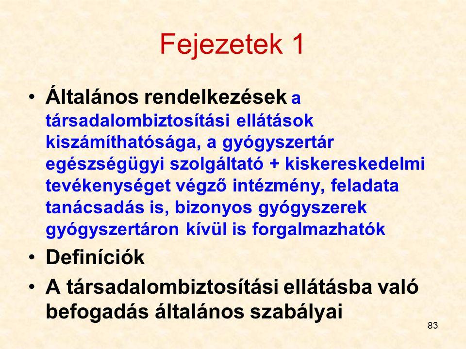 Fejezetek 1