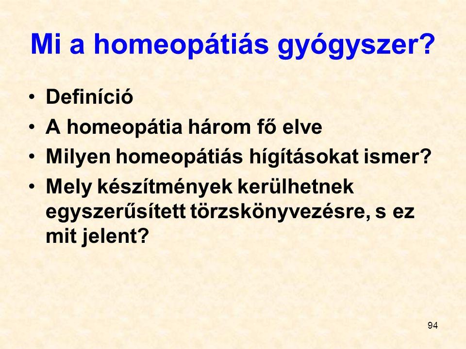 Mi a homeopátiás gyógyszer