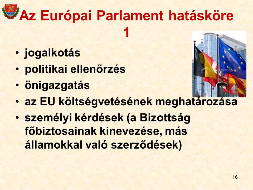 Az Európai Parlament hatásköre 1