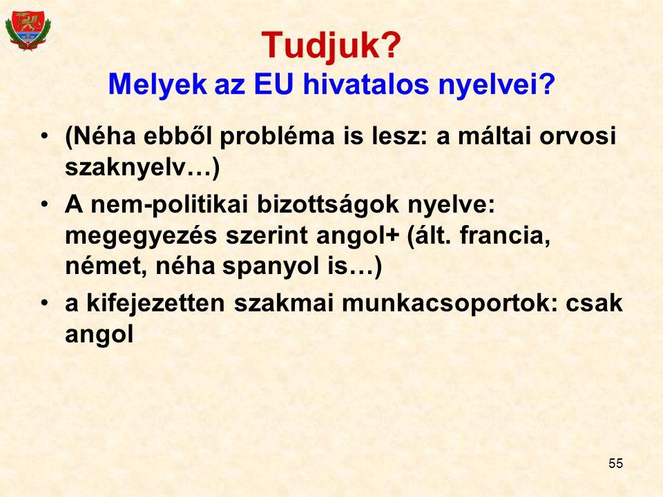 Tudjuk Melyek az EU hivatalos nyelvei