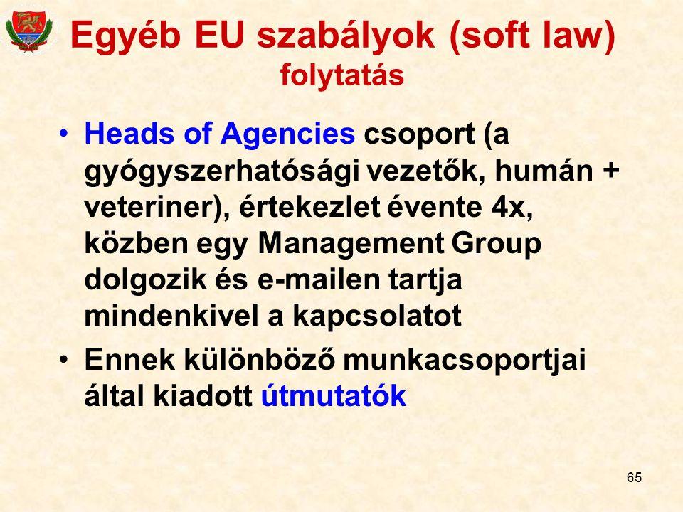 Egyéb EU szabályok (soft law) folytatás