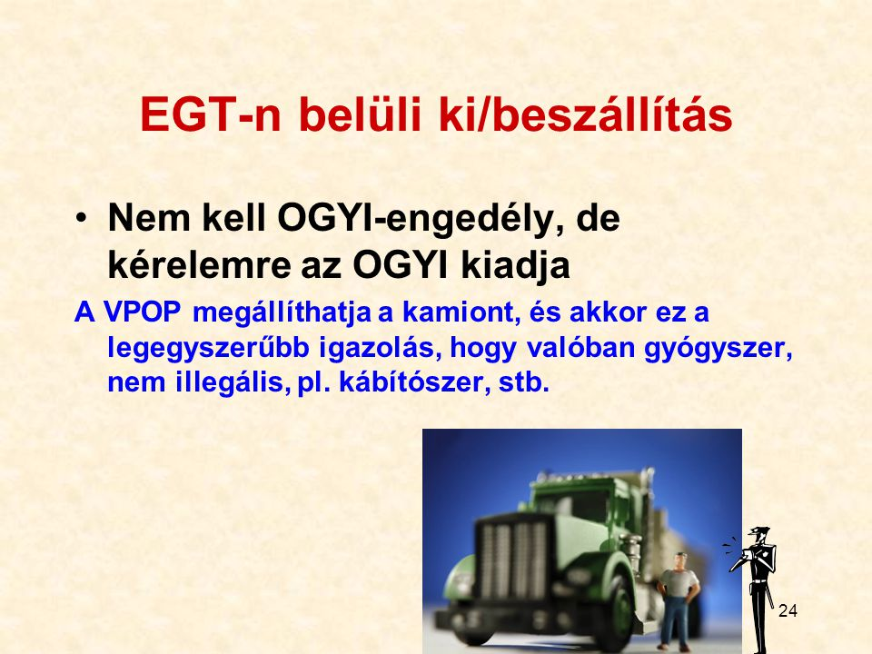 EGT-n belüli ki/beszállítás