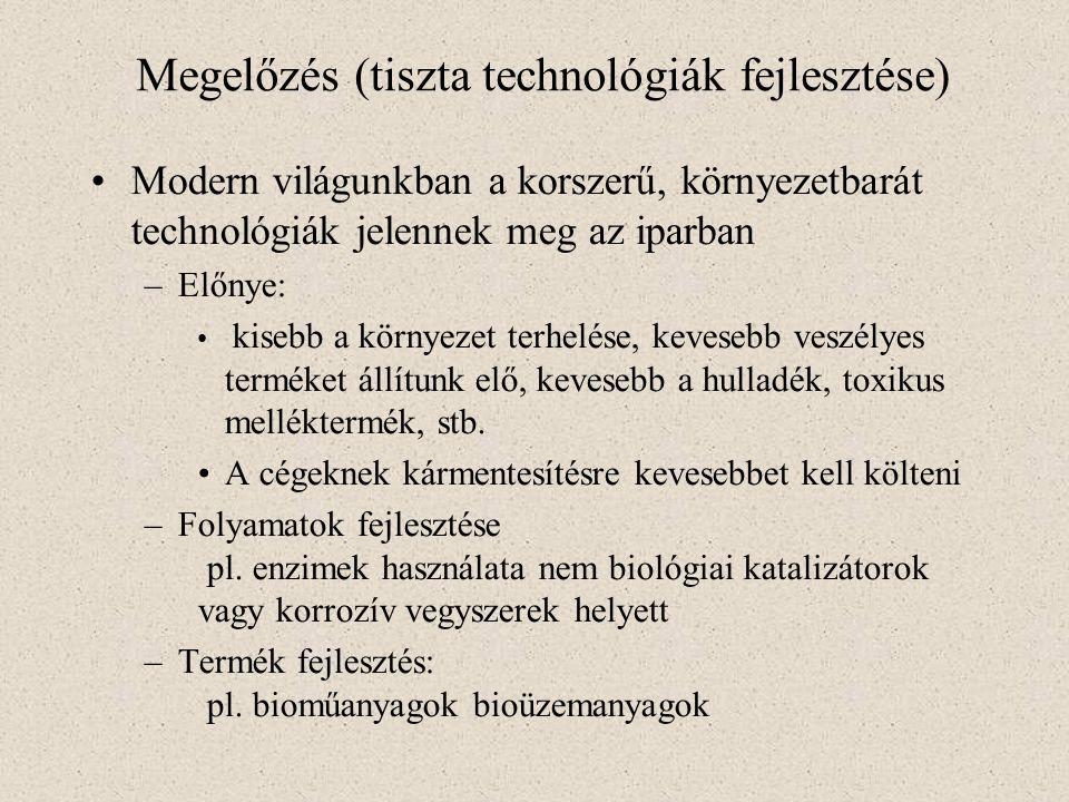 Megelőzés (tiszta technológiák fejlesztése)