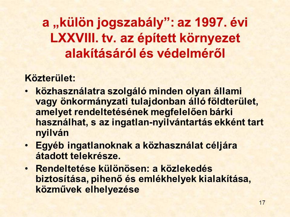 """a """"külön jogszabály : az 1997. évi LXXVIII. tv"""