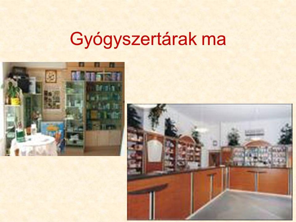 Gyógyszertárak ma