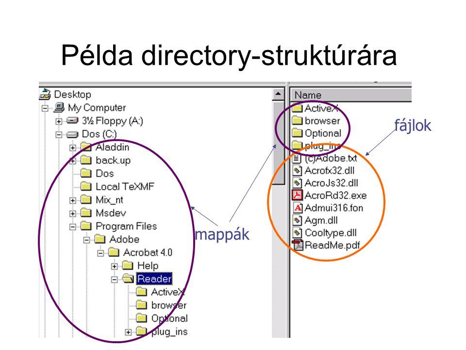 Példa directory-struktúrára