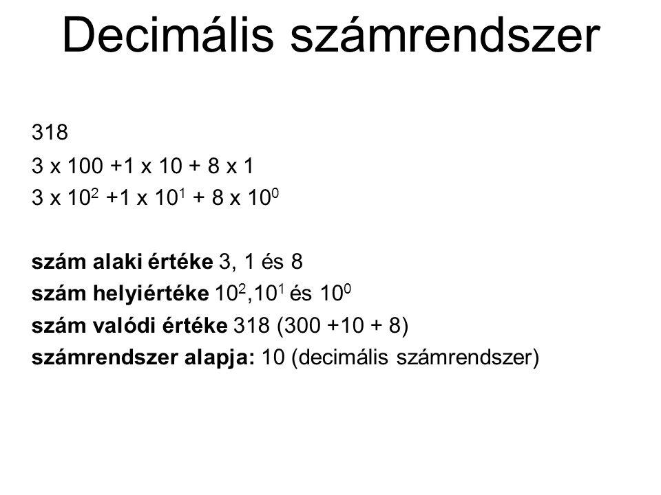 Decimális számrendszer