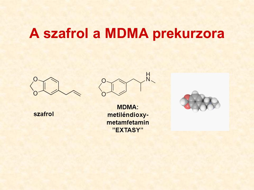 A szafrol a MDMA prekurzora