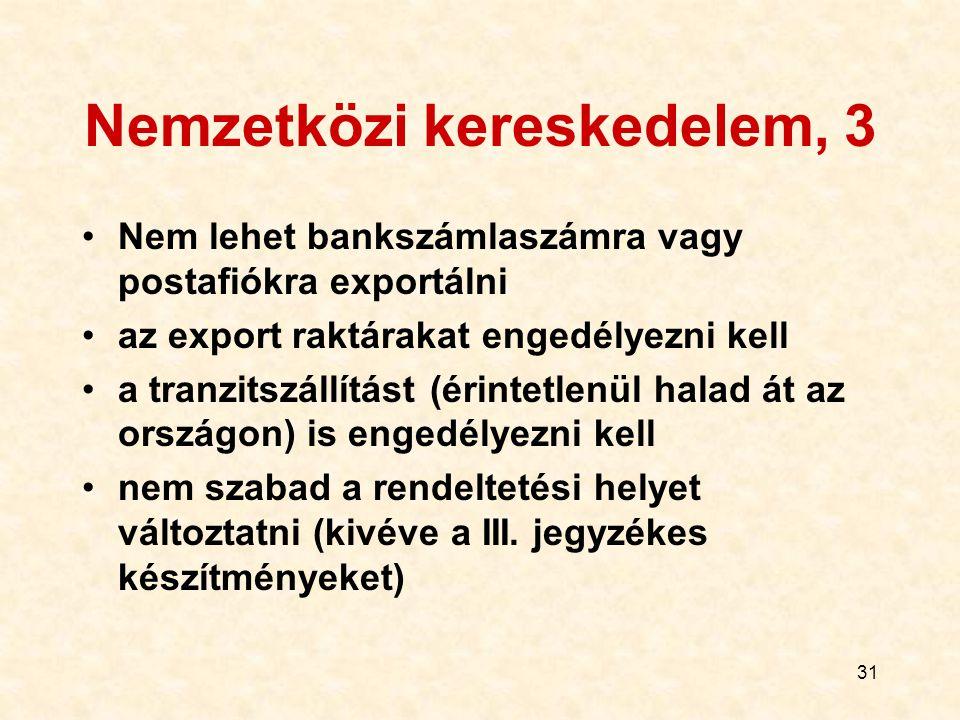 Nemzetközi kereskedelem, 3