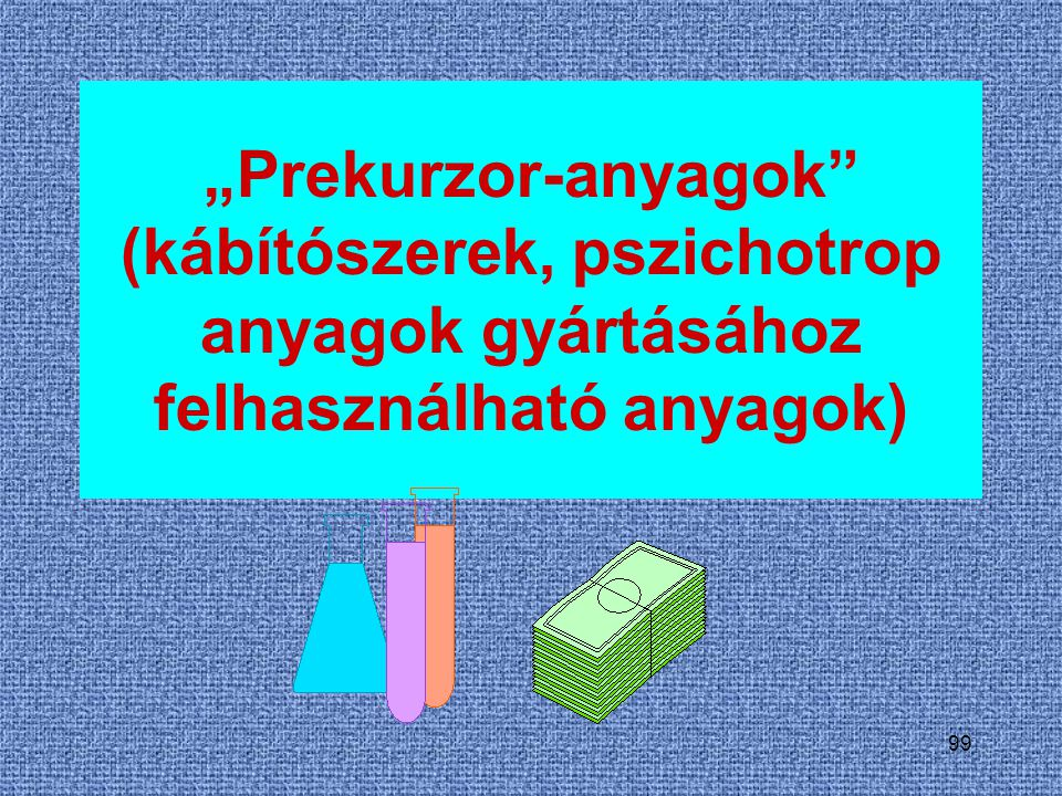 """""""Prekurzor-anyagok (kábítószerek, pszichotrop anyagok gyártásához felhasználható anyagok)"""