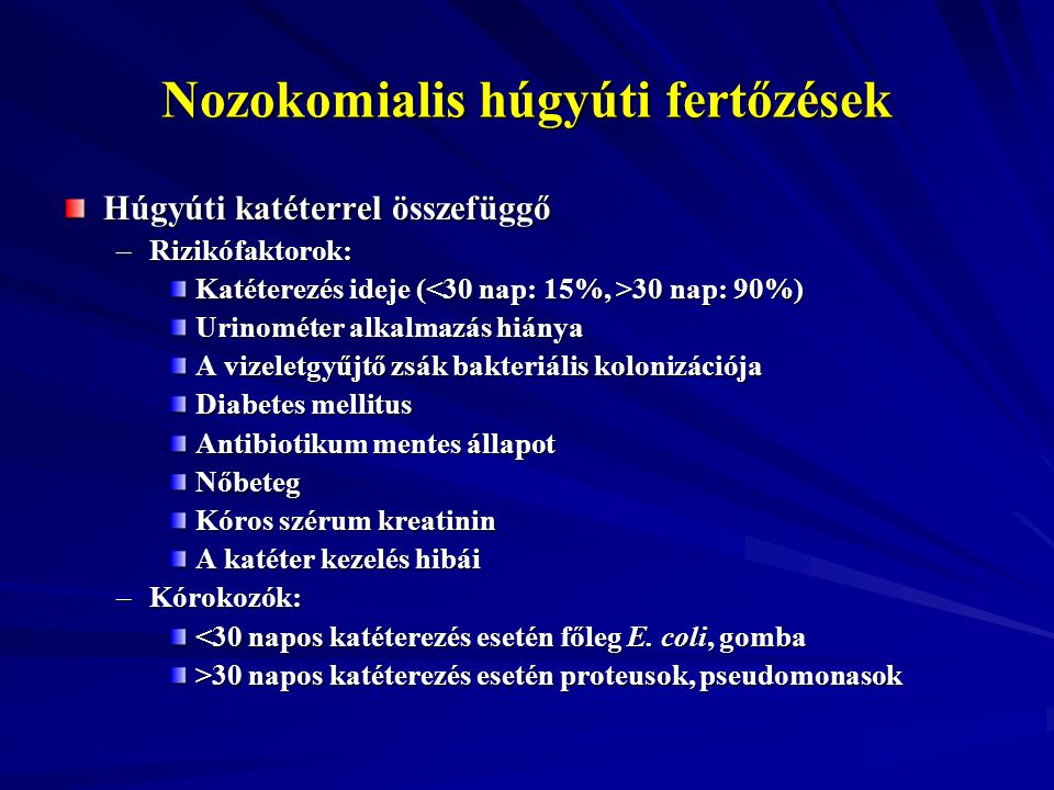 Nozokomialis húgyúti fertőzések