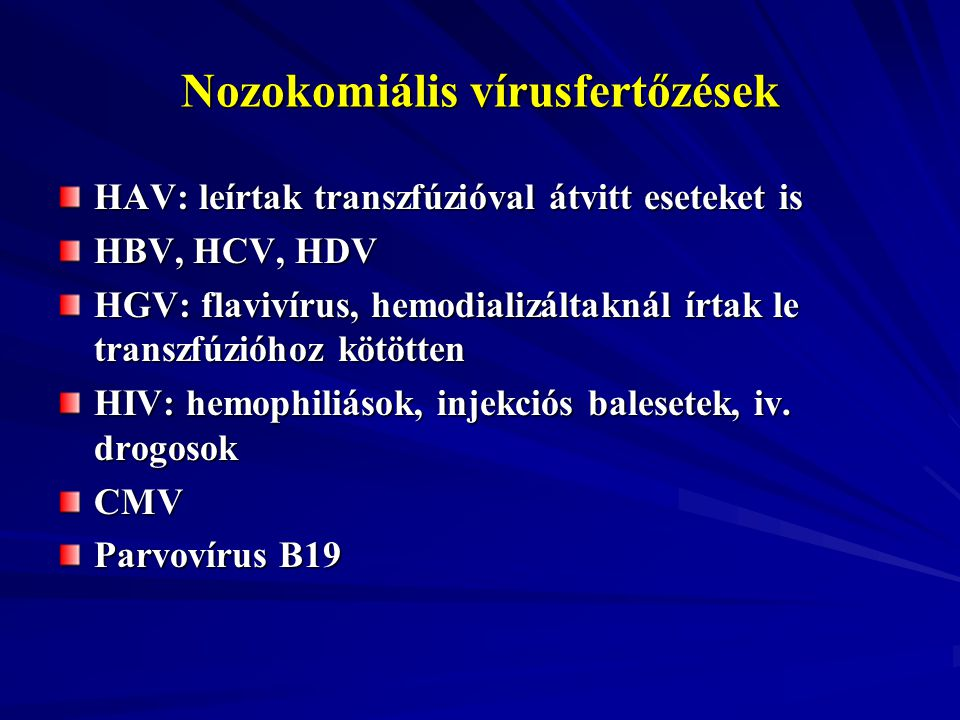 Nozokomiális vírusfertőzések
