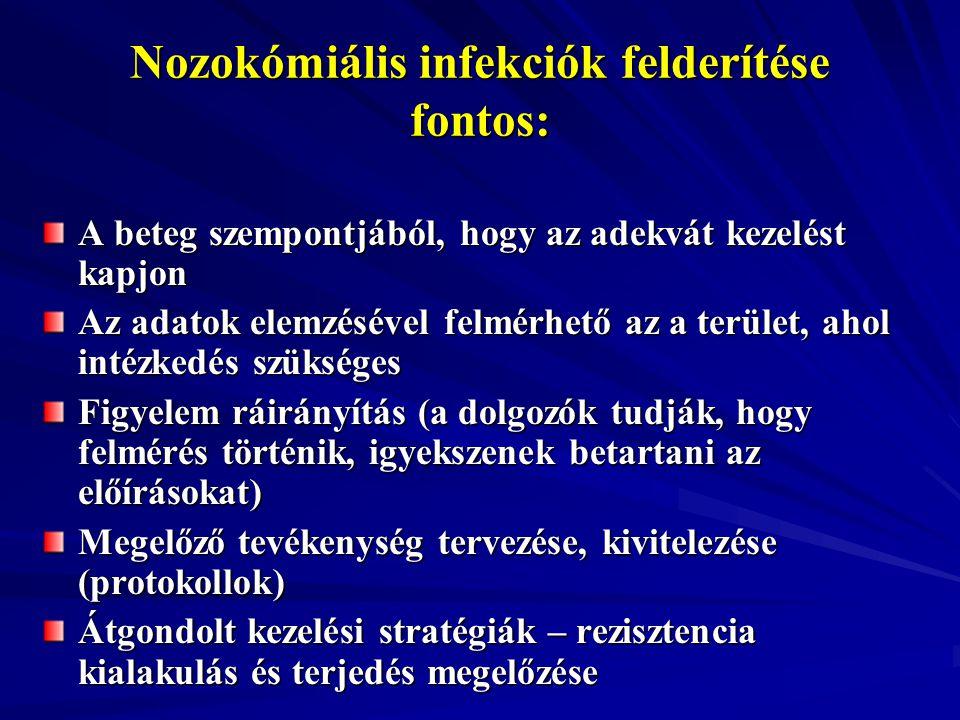 Nozokómiális infekciók felderítése fontos: