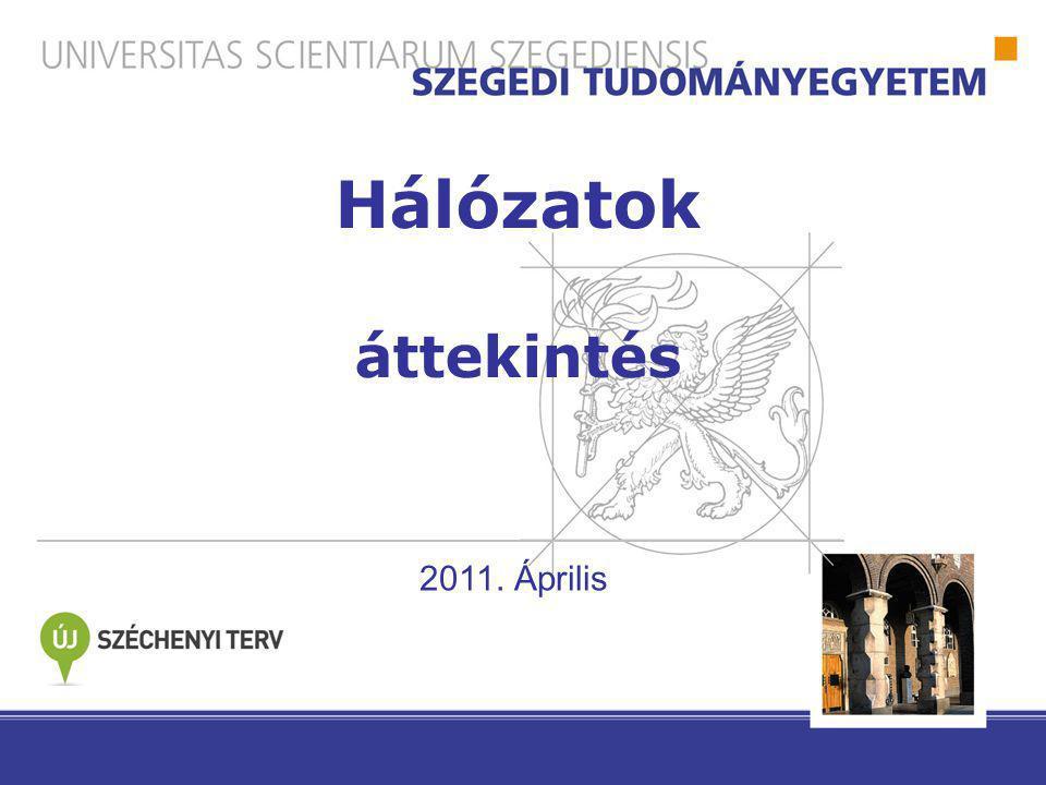 Hálózatok áttekintés 2011. Április