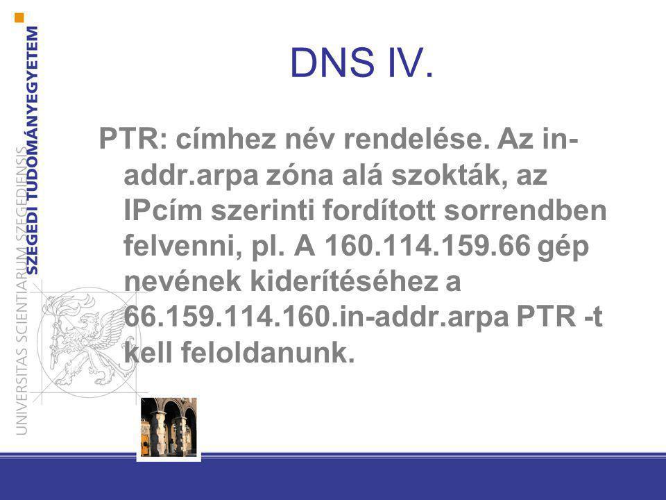 DNS IV.