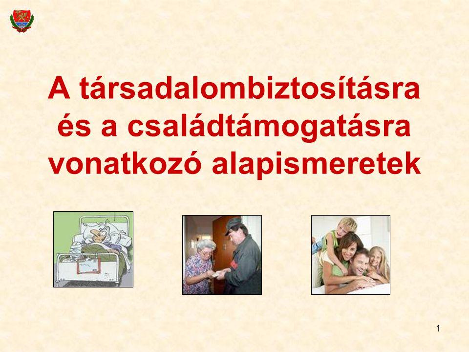 A társadalombiztosításra és a családtámogatásra vonatkozó alapismeretek