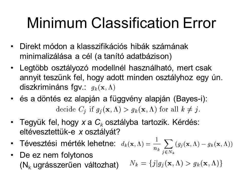 Minimum Classification Error