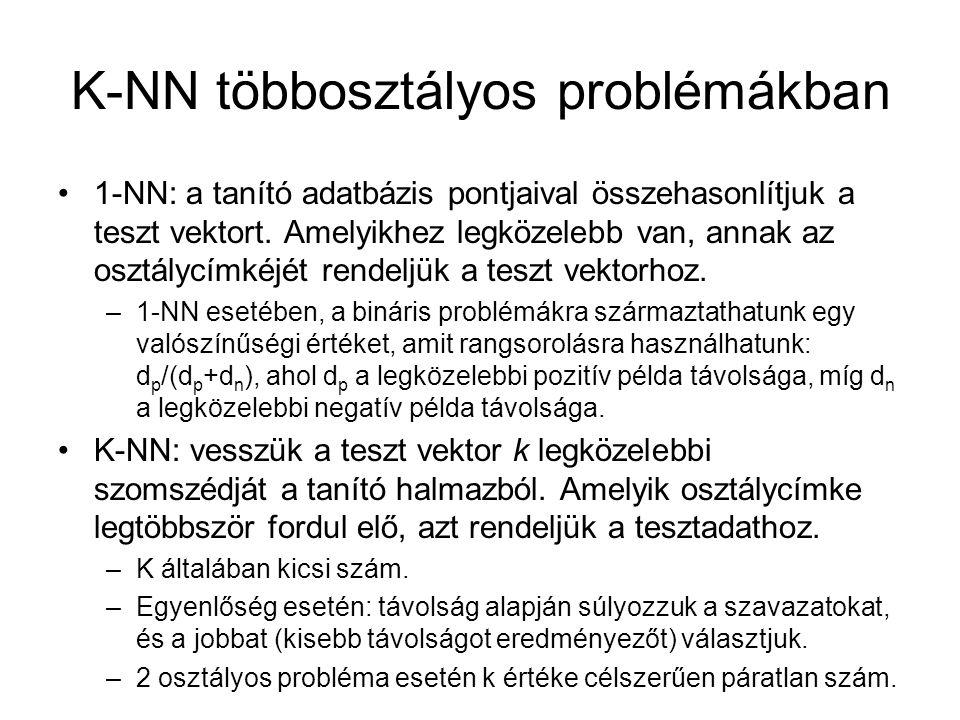 K-NN többosztályos problémákban