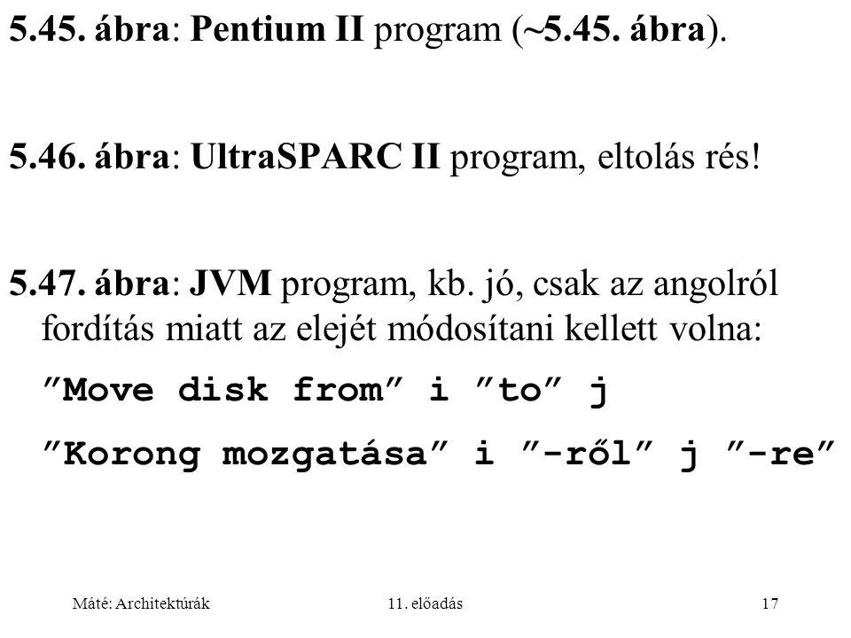 5.45. ábra: Pentium II program (~5.45. ábra).