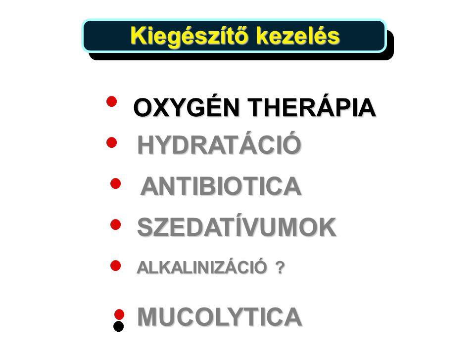OXYGÉN THERÁPIA HYDRATÁCIÓ ANTIBIOTICA SZEDATÍVUMOK MUCOLYTICA