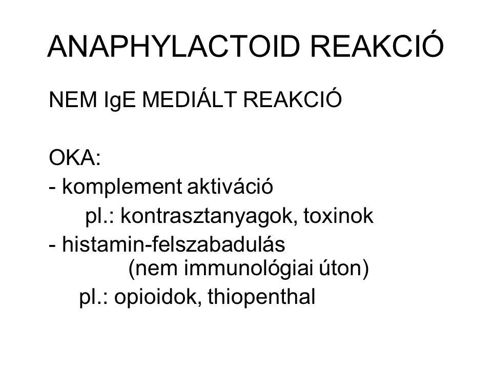 ANAPHYLACTOID REAKCIÓ