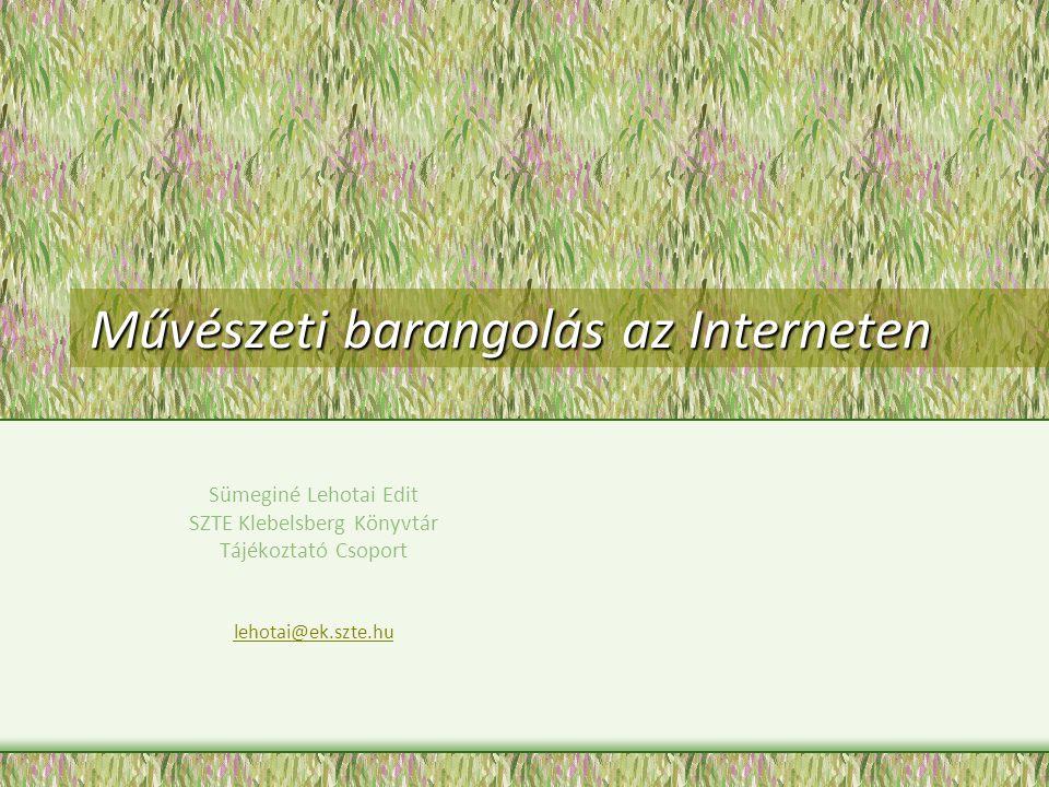 Művészeti barangolás az Interneten