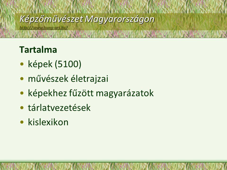 Képzőművészet Magyarországon http://www.hung-art.hu/