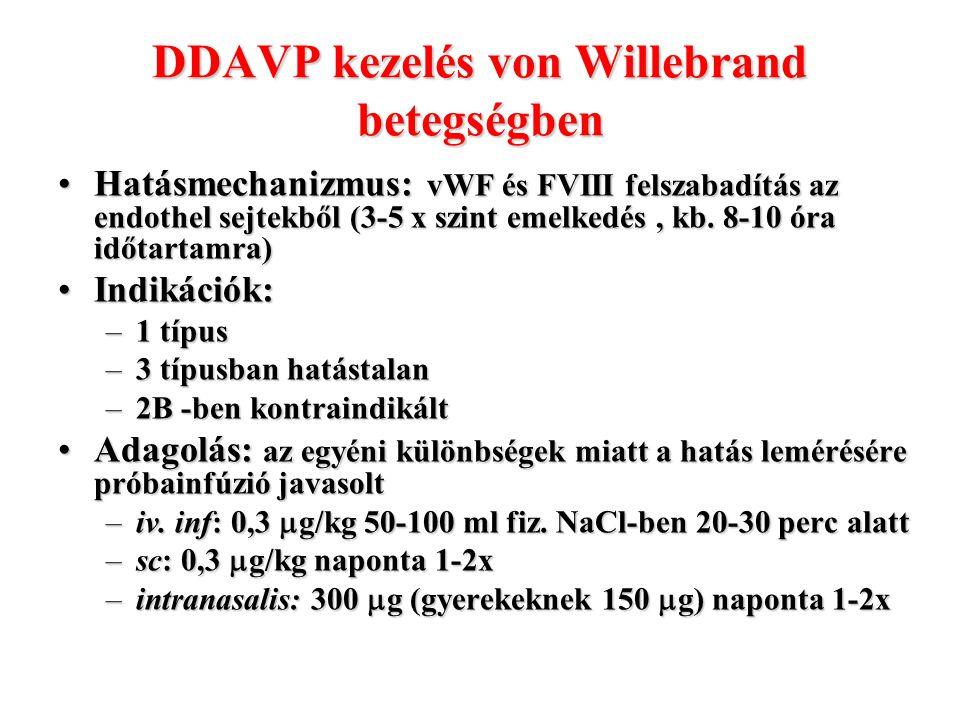 DDAVP kezelés von Willebrand betegségben
