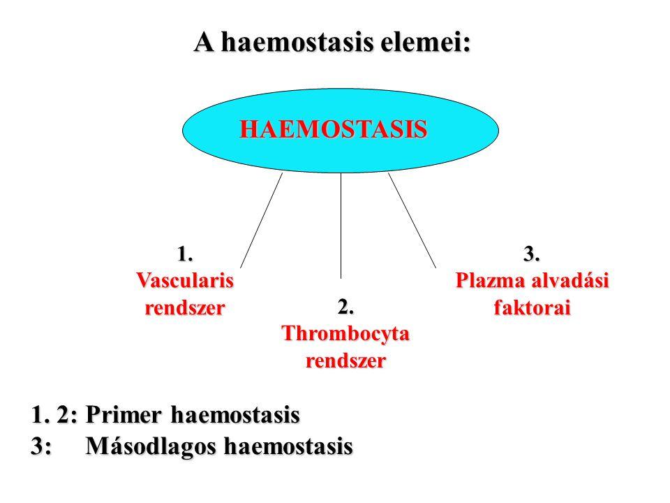 3. Plazma alvadási faktorai