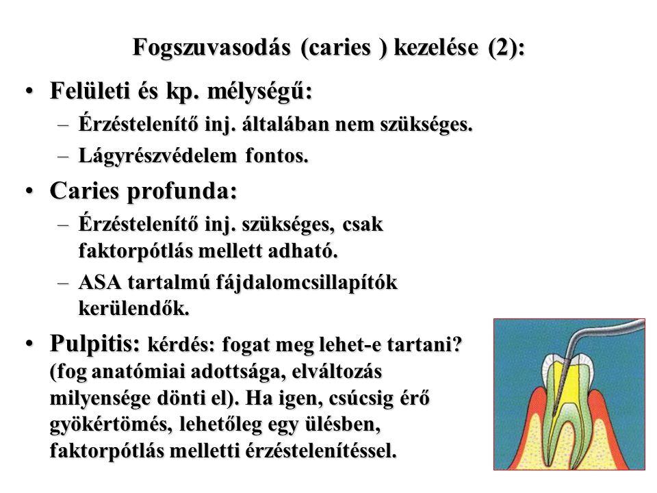 Fogszuvasodás (caries ) kezelése (2):