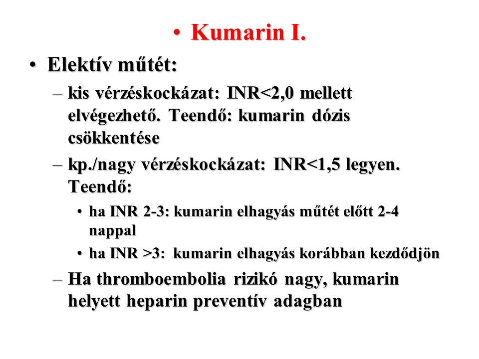 Kumarin I. Elektív műtét: