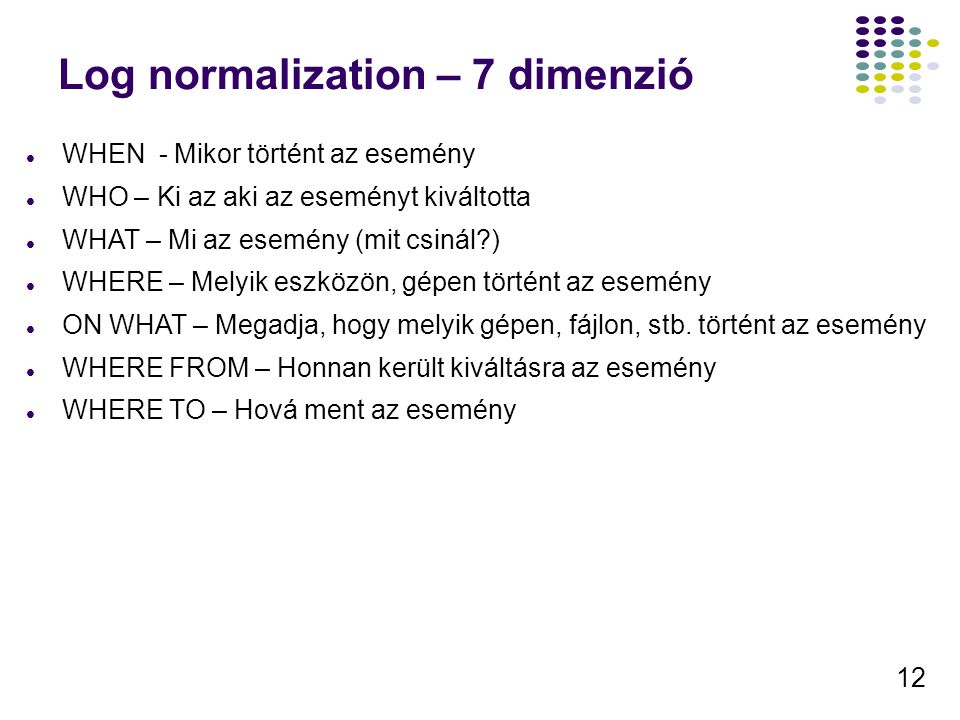Log normalization – 7 dimenzió