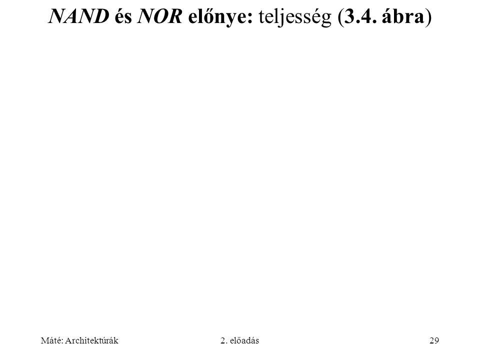 NAND és NOR előnye: teljesség (3.4. ábra)
