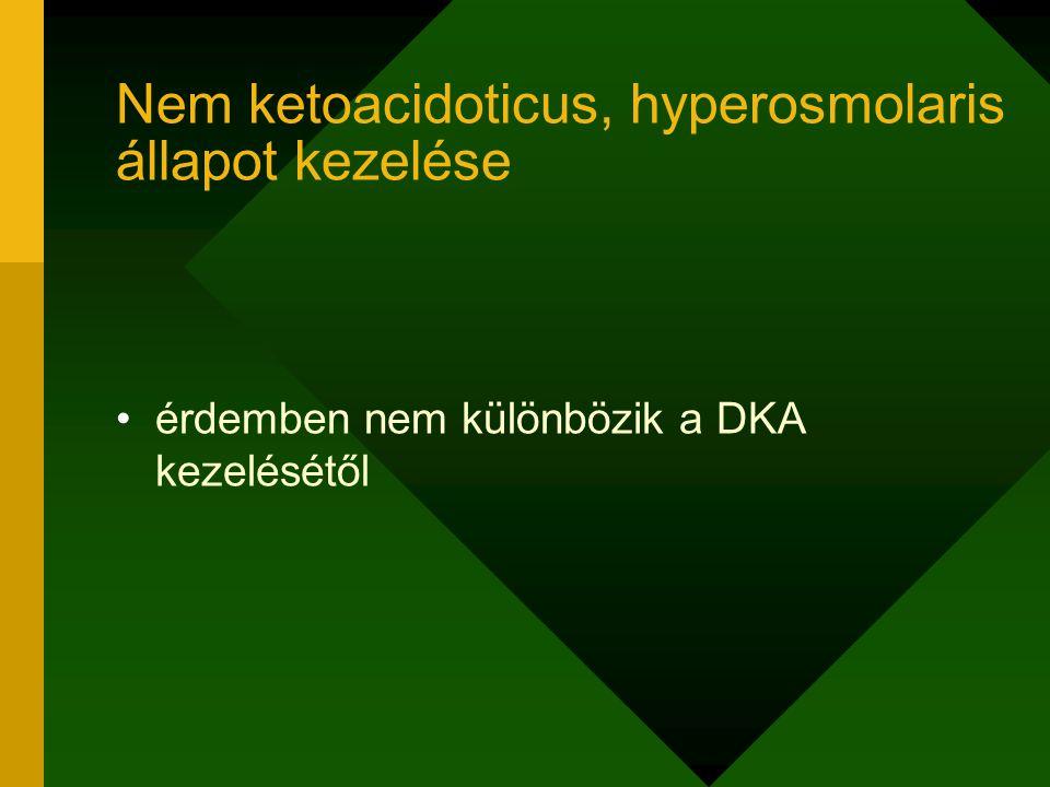 Nem ketoacidoticus, hyperosmolaris állapot kezelése