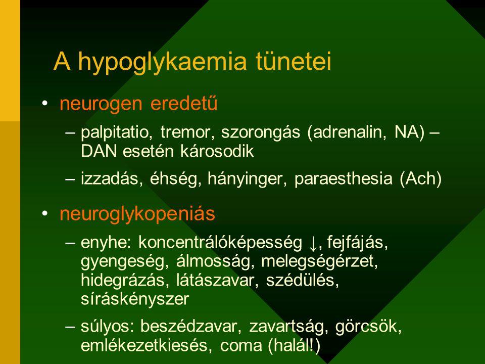 A hypoglykaemia tünetei