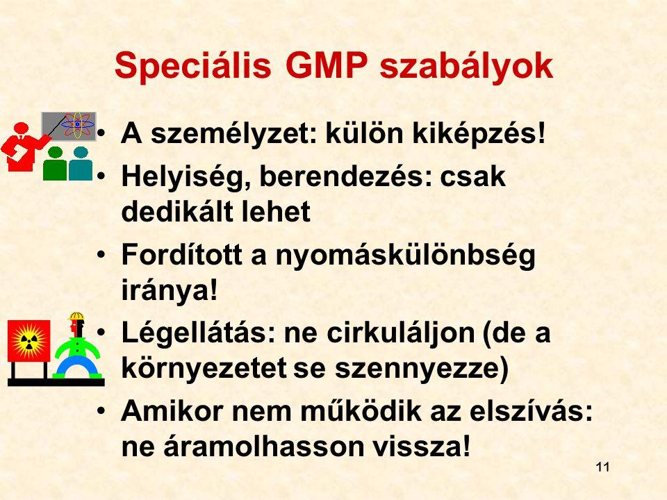 Speciális GMP szabályok