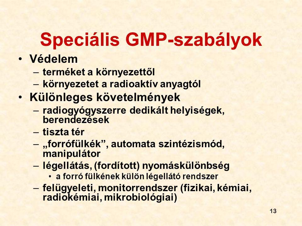 Speciális GMP-szabályok