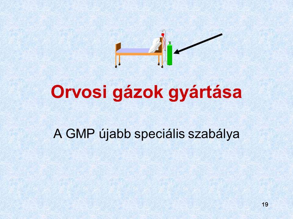 A GMP újabb speciális szabálya