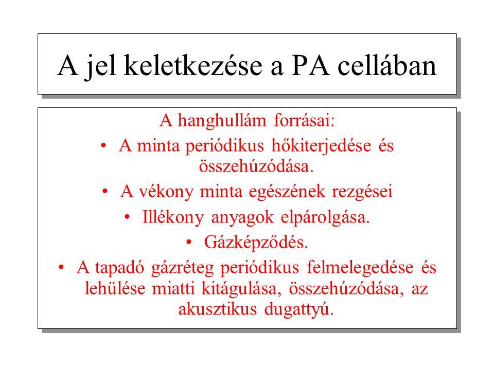A jel keletkezése a PA cellában